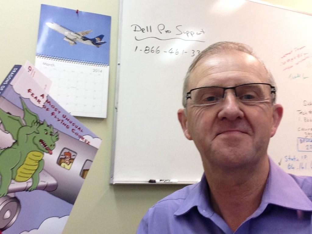 Ian Kershaw with his copy of Doug Worrall's book!