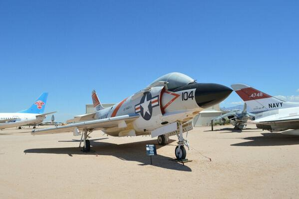 McDonnell F3H-2 Demon on guard at Pima