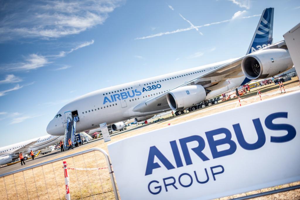 The A380 at Farnborough Air Show 2014