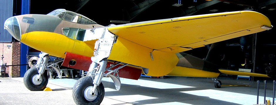 Restoration-of-DH98-Moaquit0-Prototype-in-August-2015-Copyright DeHavilland Museum